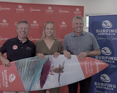 ACCIONA AND SURFING AUSTRALIA FEELING SWELL AFTER SIGNING ON FOR NEW PARTNERSHIP